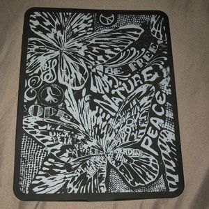 Lucky Brand black neoprene tablet case 9.75 x 7.75